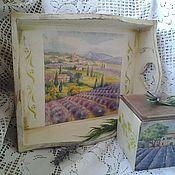 Для дома и интерьера handmade. Livemaster - original item Lavender Field tray. Handmade.