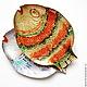 Животные ручной работы. Панно Рыба золотая бол.. Оза (decor33). Ярмарка Мастеров. Подарок дочке, подарок мужчине, поталь