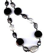 Украшения handmade. Livemaster - original item Beads labradorite agate - rhinestone. Handmade.