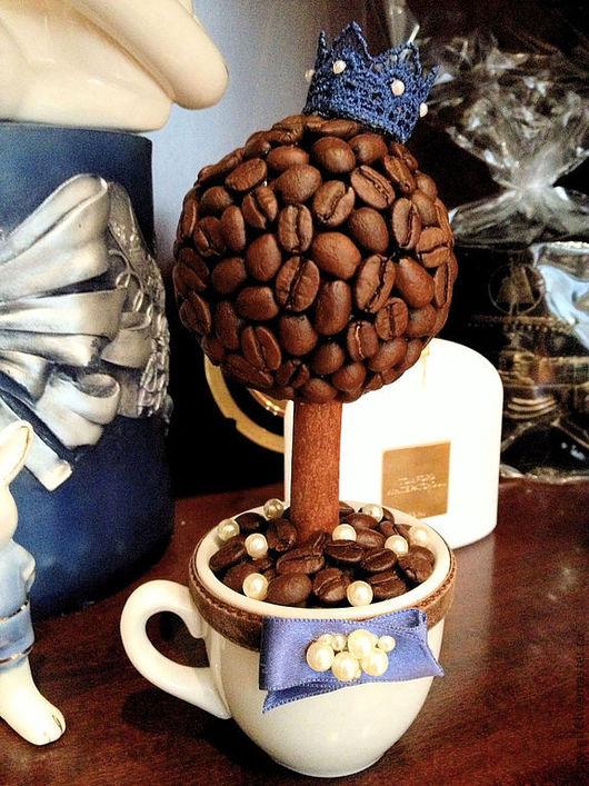 Топиарии ручной работы. Ярмарка Мастеров - ручная работа. Купить Кофейный топиарий. Handmade. Топиарий, кофейные зёрна