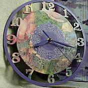 """Для дома и интерьера ручной работы. Ярмарка Мастеров - ручная работа Часы """"Сиреневый сон"""". Handmade."""