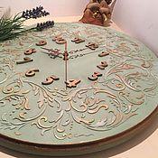 Для дома и интерьера ручной работы. Ярмарка Мастеров - ручная работа Часы настенные Рококо Олива. Handmade.