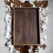 Подносы ручной работы. Ярмарка Мастеров - ручная работа Поднос из массива дуба. Handmade.