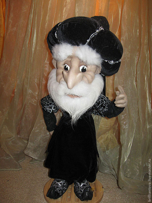 """Коллекционные куклы ручной работы. Ярмарка Мастеров - ручная работа. Купить кукла """"Волшебник Бахрам"""". Handmade. Черный, авторская кукла"""