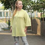 "Одежда handmade. Livemaster - original item Knitted cardigan ""colors of summer - pale lemon"". Handmade."