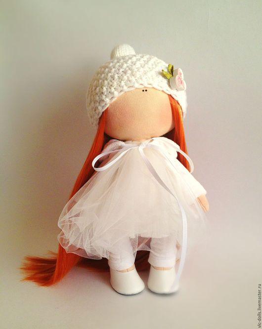 Коллекционные куклы ручной работы. Ярмарка Мастеров - ручная работа. Купить Рыжуля. Handmade. Белый, тильда, хлопок, кожа искусственная