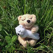 Куклы и игрушки ручной работы. Ярмарка Мастеров - ручная работа Медведица с малышом. Handmade.