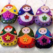 Куклы и игрушки handmade. Livemaster - original item Easter egg, matryoshka from felt, pendant, 9h6 cm, Easter. Handmade.