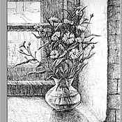 """Картины и панно ручной работы. Ярмарка Мастеров - ручная работа картина """"Полевые цветы"""". Handmade."""