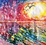 Картины и панно handmade. Livemaster - original item The sun.. Handmade.