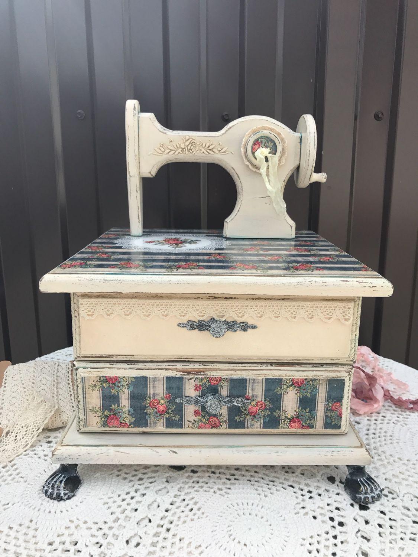 Мини-комоды ручной работы. Ярмарка Мастеров - ручная работа. Купить Мини комод для рукоделия,, Швейная машинка. Handmade.