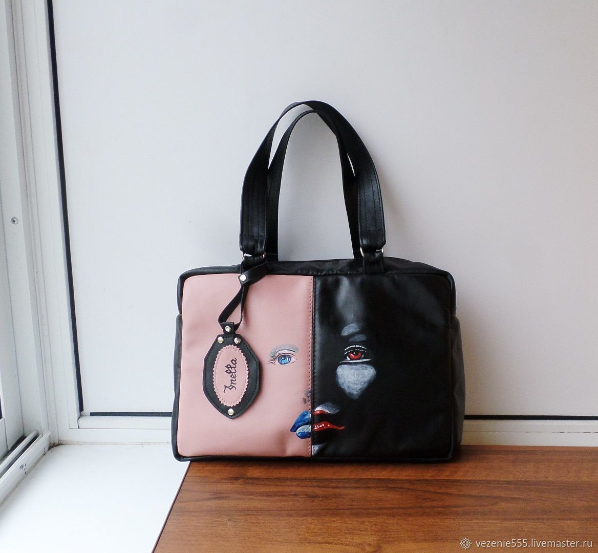 Bag leather with painting to order for Victoria, Classic Bag, Noginsk,  Фото №1