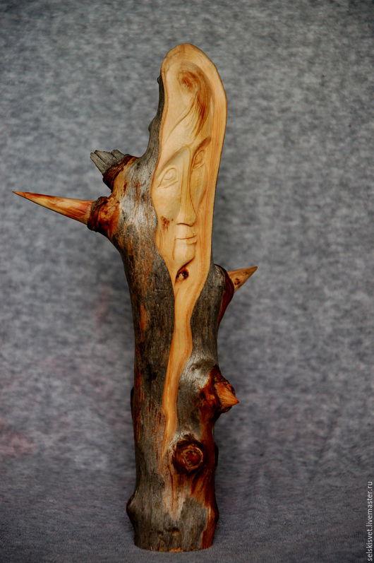 """Статуэтки ручной работы. Ярмарка Мастеров - ручная работа. Купить """"Туманная госпожа"""" (статуэтка из дерева). Handmade. Комбинированный, скульптурная миниатюра"""