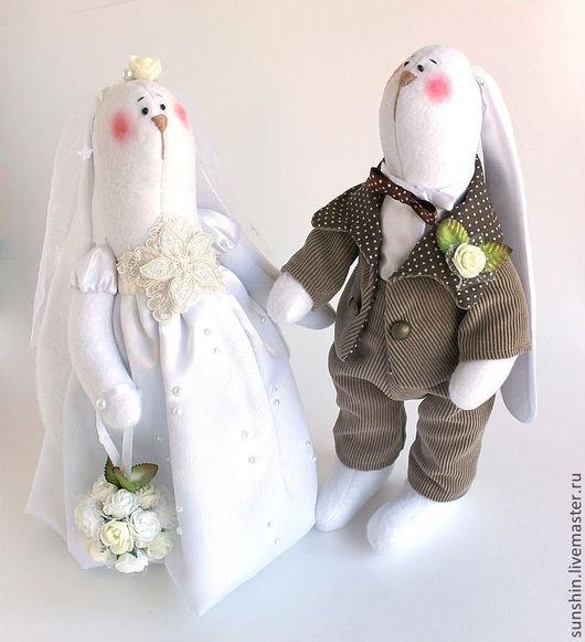 Куклы Тильды ручной работы. Ярмарка Мастеров - ручная работа. Купить Свадебные зайчики. Handmade. Белый, заяц тильда, свадьба