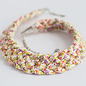 "Necklace handmade. Livemaster - original item Колье ""Весна"". Handmade."
