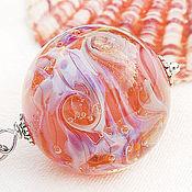 Украшения ручной работы. Ярмарка Мастеров - ручная работа Фламинго - кулон - подвеска галактика лэмпворк. Handmade.