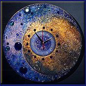 """Для дома и интерьера ручной работы. Ярмарка Мастеров - ручная работа Часы настенные """"Night flight"""". Handmade."""