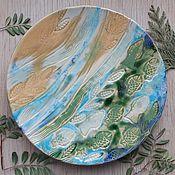 """Тарелки ручной работы. Ярмарка Мастеров - ручная работа Тарелка """"Течение"""". Handmade."""