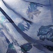Аксессуары ручной работы. Ярмарка Мастеров - ручная работа Шелковый платок Лаванда, платок шелковый батик, шелковое парео. Handmade.