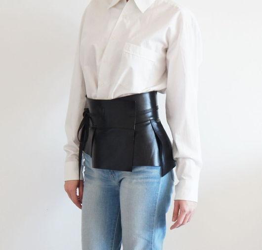 Пояса, ремни ручной работы. Ярмарка Мастеров - ручная работа. Купить Пояс кожаный Smart Style. Handmade. Широкий пояс