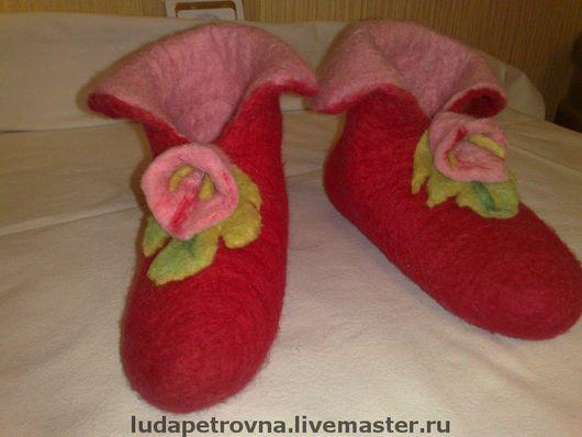 Обувь ручной работы. Ярмарка Мастеров - ручная работа. Купить валеночки  детские. Handmade. Домашние тапочки, 100% шерсть