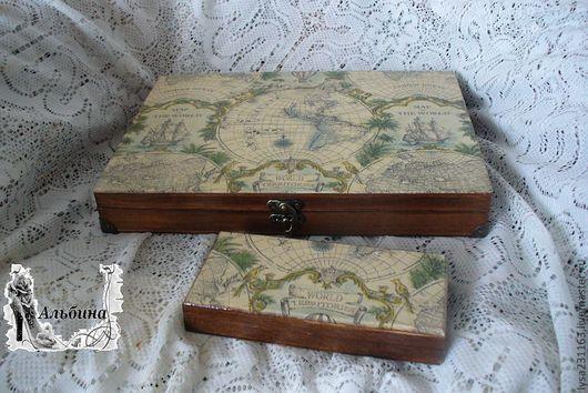 """Подарки для мужчин, ручной работы. Ярмарка Мастеров - ручная работа. Купить Шкатулка для бумаг и купюрница """"В поисках капитана Гранта"""". Handmade."""