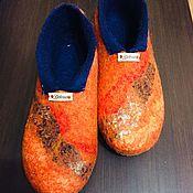 Обувь ручной работы handmade. Livemaster - original item Home Slippers felted.. Handmade.