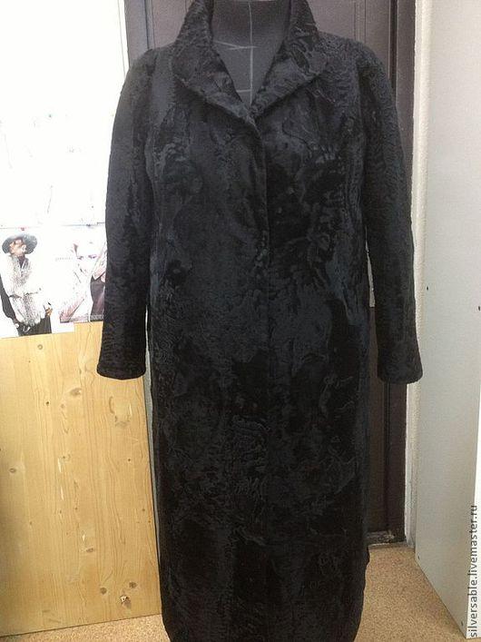 Верхняя одежда ручной работы. Ярмарка Мастеров - ручная работа. Купить Пальто из каракульчи. Handmade. Черный, каракульча