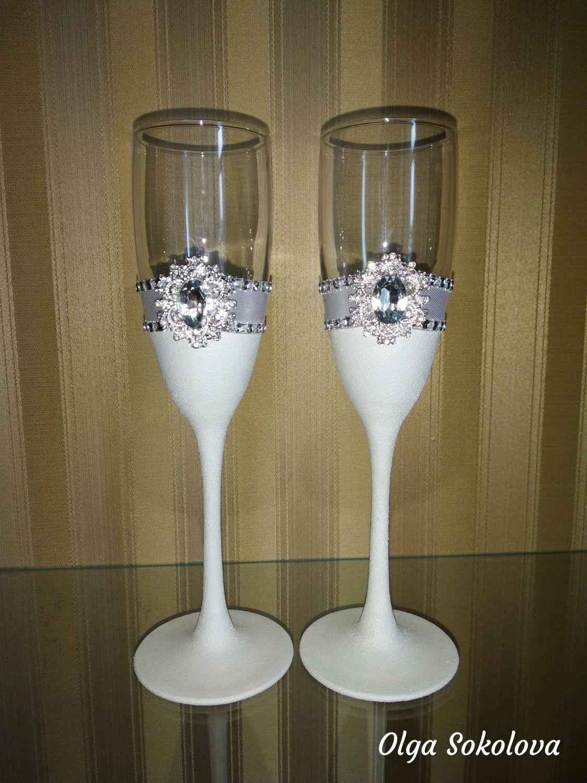 Свадебные бокалы в классическом стиле, Бокалы, Новосибирск, Фото №1