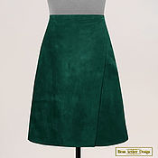Одежда handmade. Livemaster - original item A-line skirt with a smell of genuine leather. Handmade.
