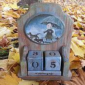 """Подарки к праздникам ручной работы. Ярмарка Мастеров - ручная работа Календарь """"Пошли гулять"""". Handmade."""