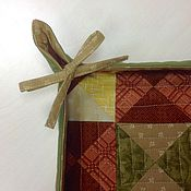 Для дома и интерьера ручной работы. Ярмарка Мастеров - ручная работа Текстильная конфетница лоскутная стёганая из хлопка Осенняя палитра. Handmade.