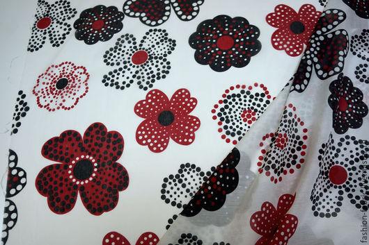 Шитье ручной работы. Ярмарка Мастеров - ручная работа. Купить Батист с шелком цветы на белом BT 9009736 Италия Цена за метр. Handmade.