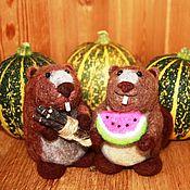 """Куклы и игрушки ручной работы. Ярмарка Мастеров - ручная работа Валяная игрушка """"Бобр"""". Handmade."""