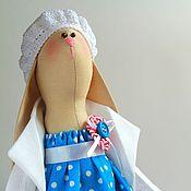 Куклы и игрушки ручной работы. Ярмарка Мастеров - ручная работа Зайка Тильда Морские истории, синий, морской стиль, хлопок. Handmade.