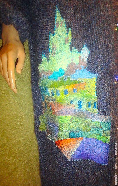 """Верхняя одежда ручной работы. Ярмарка Мастеров - ручная работа. Купить Пальто """"Сиреневый туман над городом"""". Handmade."""