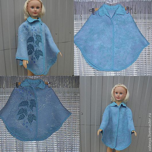 Одежда для девочек, ручной работы. Ярмарка Мастеров - ручная работа. Купить Пончо валяное для девочки. Handmade. Комбинированный, детская одежда