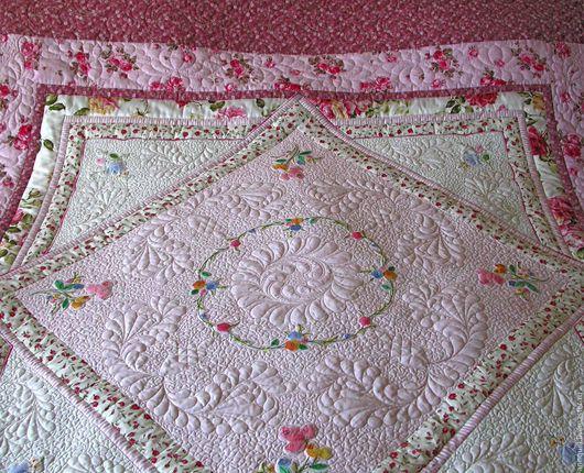 """Текстиль, ковры ручной работы. Ярмарка Мастеров - ручная работа. Купить покрывало на кровать """"Розовая мечта"""". Handmade. Покрывало на кровать"""