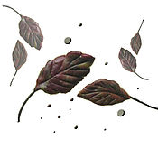 Работы для детей, ручной работы. Ярмарка Мастеров - ручная работа Листики осенние, листики зимние - маленькие брошки. Handmade.