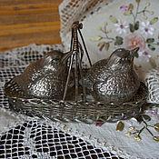 ПРОДАНО!Набор для специй винтажная солонка перечница Серебрение Англия