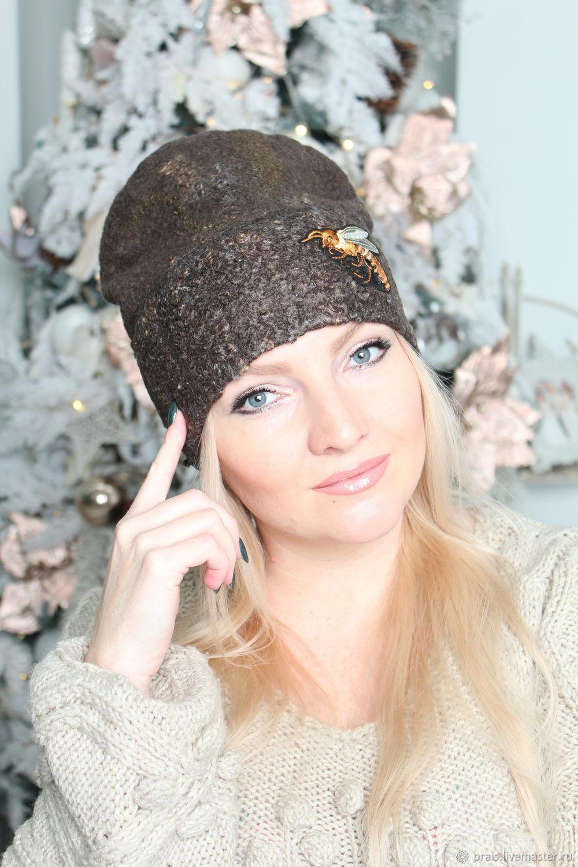 Авторская валяная шапка «Не Гуччи)» резерв, Шапки, Новосибирск,  Фото №1
