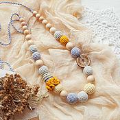 Одежда handmade. Livemaster - original item Teething Nursing necklace for breastfeeding Mommy. Handmade.