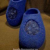 Обувь ручной работы. Ярмарка Мастеров - ручная работа Тапочки Синева. Handmade.