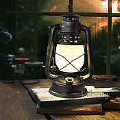 Table lamps handmade. Livemaster - original item Kerosene lamp battery powered black for a photo shoot or home. Handmade.