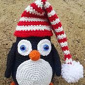 Куклы и игрушки ручной работы. Ярмарка Мастеров - ручная работа Новогодний пингвинчик. Handmade.
