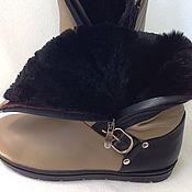 Обувь ручной работы. Ярмарка Мастеров - ручная работа Угги кожа+овчина. Handmade.