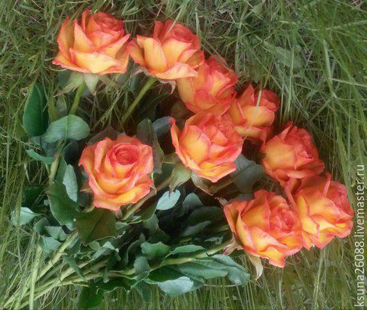 Букеты ручной работы. Ярмарка Мастеров - ручная работа. Купить Розы из полимерной глины. Handmade. Розы, полимерная глина