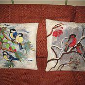 Для дома и интерьера ручной работы. Ярмарка Мастеров - ручная работа зимние птицы. Handmade.