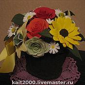 Цветы и флористика ручной работы. Ярмарка Мастеров - ручная работа Корзинка с цветами. Handmade.