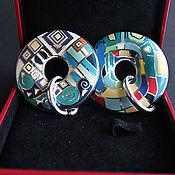 Материалы для творчества handmade. Livemaster - original item Cloisonné pendant cloisonné cloisonné Enamel 50 mm B3. Handmade.